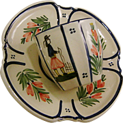 HB Quimper Petit Breton Demitasse Cup and Saucer