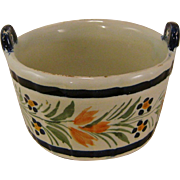 Henriot Quimper Demi-Fantaisie Jam Pot
