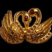 Vintage Swan Brooch Pin