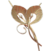 Waco Gold Filled Pearl Brooch Pin