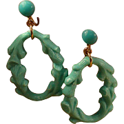 Faux Turquoise NAPIER Dangle Earrings