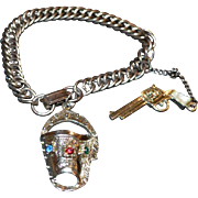 Holster and Pistol Vintage Bracelet