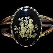 Cherub Medallion Clamper Bracelet