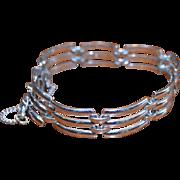 MONET Silver Tone Link Bracelet