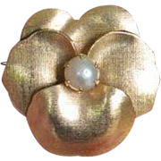 Alice Caviness Gold Filled Brooch Pin