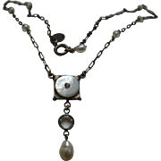 Vintage Style Faux Pearl Necklace