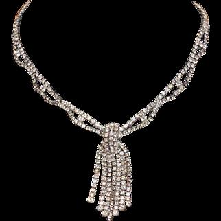 KRAMER of New York Fringe Rhinestone Necklace