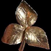 GROSSE 1961 Leaf Brooch Pin