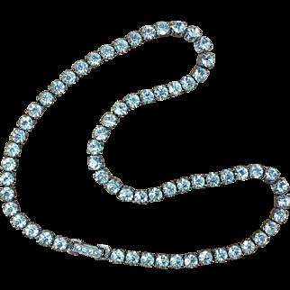 Sterling Rhinestone Necklace