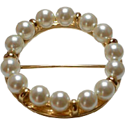 Classic NAPIER Circle Brooch Pin