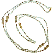 Long Enamel Link Necklace