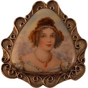 STERLING Portrait Brooch Pin