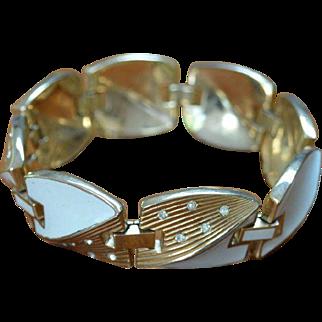 TRIFARI Cream and Rhinestone Bracelet