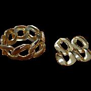 Mid Century Bracelet and Earring Set