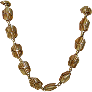 CORO Twisted Link Necklace