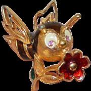 JOMAZ Happy Bee Brooch Pin