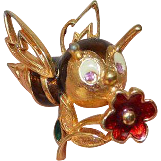 JOMAZ Happy Bee Brooch Pin