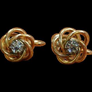 Gold Filled Gem-in-a-Nest Earrings