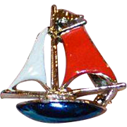 Teenie Sailboat Brooch Pin