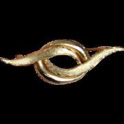 Mid Century Swirl Brooch Pin