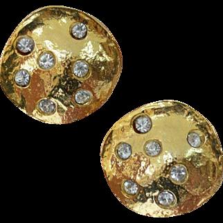 NORMA JEAN Moon Disc Earrings