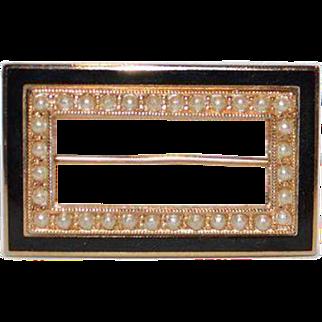 Open Frame Brooch Pin