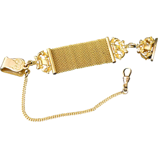 Small Vest WATCH FOB, Wax Seal and Chain