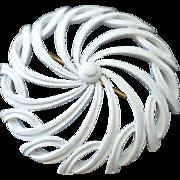 Enamel MONET Pinwheel Brooch Pin