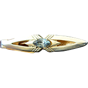 Gold Tone and Rhinestone SWANK Tie Clip
