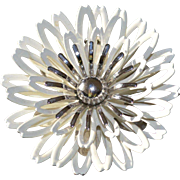 SARAH Coventry 1960's Flower Brooch Pin