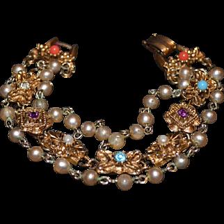 Multi-Strand Vintage Bracelet