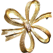 MONET Double Bow Brooch Pin