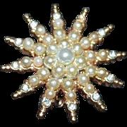 VINTAGE Star Brooch Pin