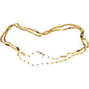 MONET Brick Link Long Necklace