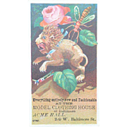 Victorian Trade Advertising Card