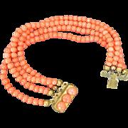 Vintage CORAL Bead Bracelet