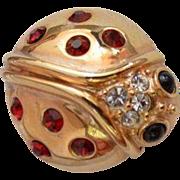 KREMENTZ Lady Bug Brooch Pin