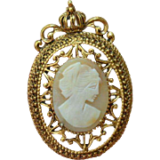 FLORENZA Faux Cameo Brooch Pin