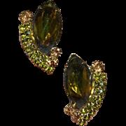 HOBE Olivine Rhinestone Earrings