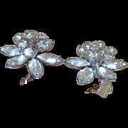 AUSTRIA Rhinestone Flower Earrings
