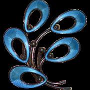 Sterling JEMAX Enamel Brooch Pin