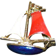 GERRYS Sailboat Brooch Pin