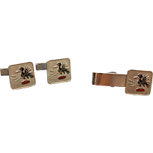 Funky Tie Clip and Cuff Links Set