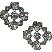 WEISS Rhinestone Extravaganza Earrings
