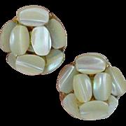 Vintage VOGUE Mother of Pearl Bead Earrings