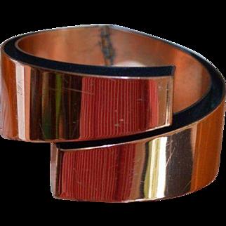 RENOIR Signed Copper Clamper Bracelet