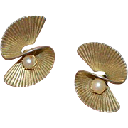 Faux Pearl RETRO Twist Earrings