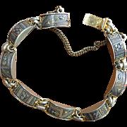 Damascene Style Link Bracelet