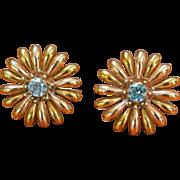 Rhinestone Sunflower Earrings