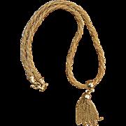 Vintage Tassel Rope Necklace